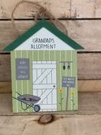 'Grandad's Allotment' Wooden Hanging Sign Gift For Grandad...